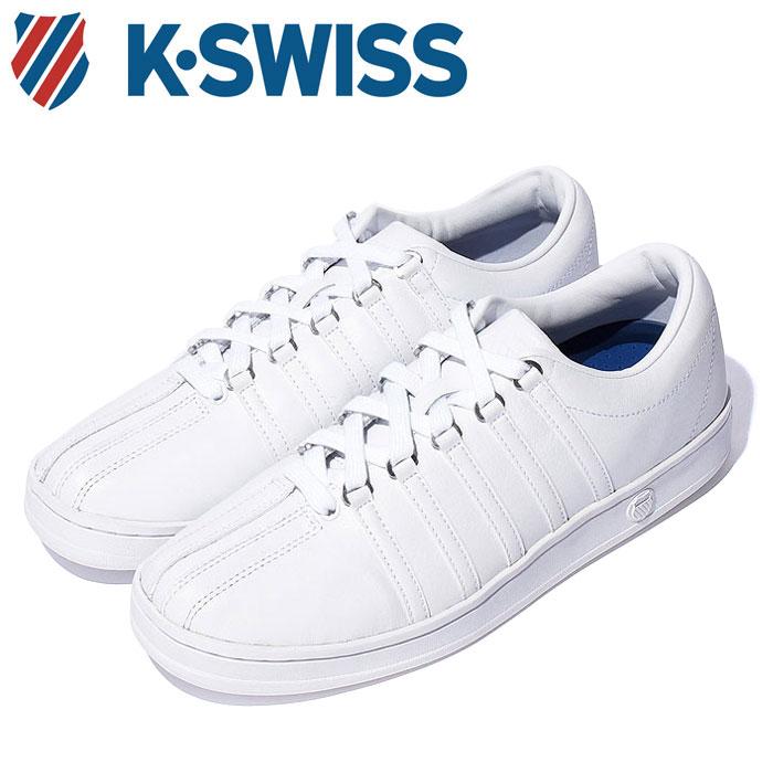 Kスイス ケースイス クラシック 88 メンズ レディース ホワイト 白 スニーカー レザー テニスシューズ コート K-SWISS Classic 88 WHITE 36022480 送料無料