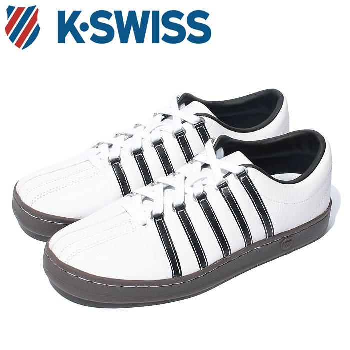 Kスイス ケースイス クラシック 88 メンズ レディース ホワイト ブラウン ガム 白 茶 スニーカー レザー テニスシューズ K-SWISS Classic 88 36022487 送料無料