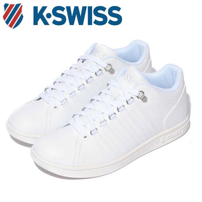 送料無料 Kスイス ケースイス メンズ レディース ホワイト 白 スニーカー レザー テニスシューズ K-SWISS KSL 01 WHITE 36800010