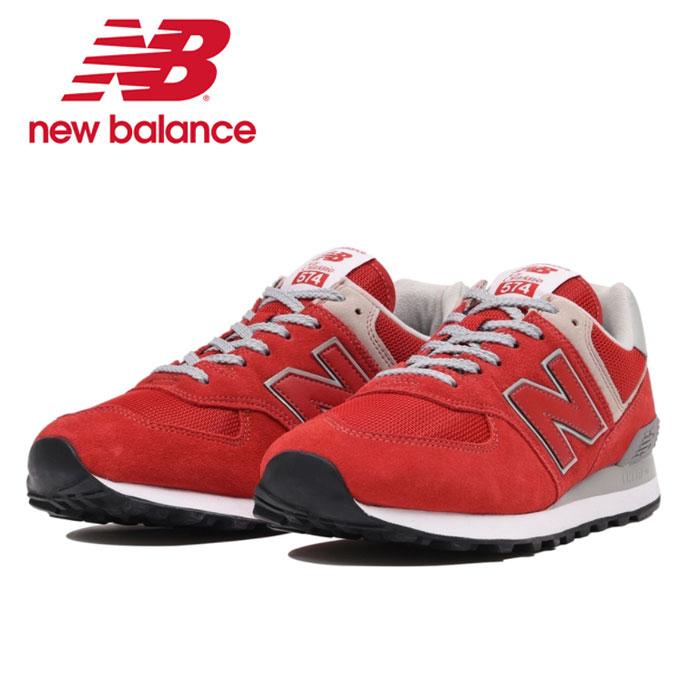 200円クーポン対象 送料無料 ニューバランス New balance ML574 ERD レディース メンズ スニーカー 赤 レッド ウォーキングシューズ 靴 ローカット TEAM RED