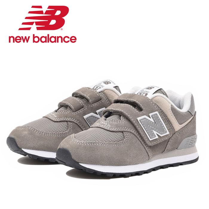 送料無料 ニューバランス New Balance YV574 GG スニーカー グレー ウォーキングシューズ 靴 ローカット ベルクロ マジックテープ キッズ ジュニア New Balance くつ クツ