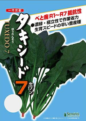 タキシード7(激速ほうれん草)[種子 M3万粒袋入]