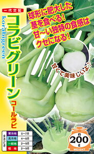 コラビグリーン(コールラビ)種子小袋(80粒)