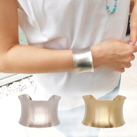 ワイドバングル A レディース アクセサリー バングル ブレスレット 腕輪 太め 幅広 シルバー ゴールド シンプル 手元 手元コーデ 大人可愛い かわいい おしゃれ オシャレ 人気 カジュアル パーティー プレゼント ギフト 贈り物