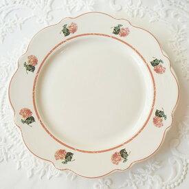 【即納】お皿 食器 花柄 レトロ 北欧 おしゃれ 可愛い かわいい カフェ デザイン プリント 雑貨 安い イラスト お揃い プレート 白 ホワイト バラ 花型 大きい 小さい フリル ピンク 韓国
