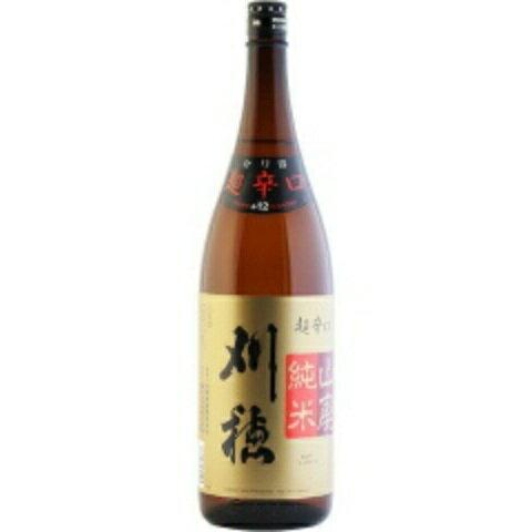 ☆【日本酒】刈穂(かりほ) 山廃純米 超辛口 1800ml