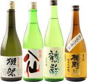 □【送料クール便代込・日本酒】「酒の勝鬨」ビッグ4 よくばり日本酒セット!!720mlx4本 ※クール便発送