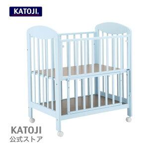 ミニベビーベッド【ハイタイプ】|プチブルー katoji KATOJI カトージ場所を取らないうれしいサイズのminiベッド