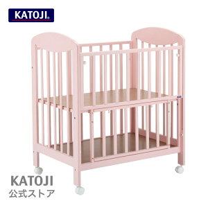 ミニベビーベッド【ハイタイプ】|プチピンク katoji KATOJI カトージ 場所を取らないうれしいサイズのminiベッド