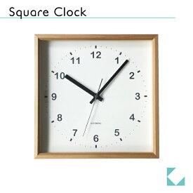 KATOMOKU muku square clock ナチュラル km-37N 連続秒針 掛け時計