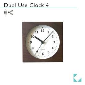 KATOMOKU dual use clock 4 ブラウン km-95BRC 電波時計 連続秒針 置き掛け兼用