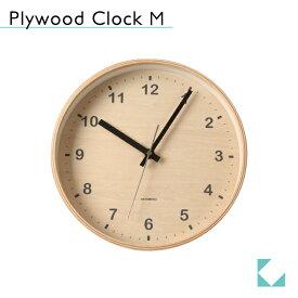 KATOMOKU plywood wall clock Mサイズ km-34M 掛け時計 連続秒針 名入れ対応品