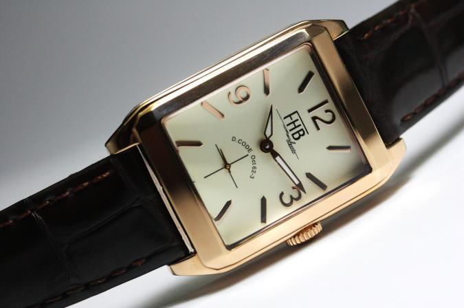 ちょっと大人っぽい角型ケース!FHB Classicデザインウォッチ/腕時計/男女兼用/正規代理店商品
