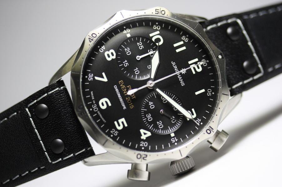 限定150本のみ!ドイツのJunghans【ユンハンス】マイスターパイロット・イベントモデル自動巻きクロノグラフ腕時計/正規代理店商品