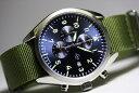 ドイツ製Laco【ラコ】Atlanta【アトランタ】クォーツ・ミリタリークロノグラフ腕時計/NATOタイプ正規代理店商品