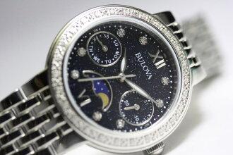 Embedded with diamond women's BULOVA moon phase and ladies watch / quartz watch