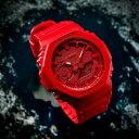 レッド!薄型!CASIO【カシオ】G-SHOCK【Gショック】八角フォルムのアナログ&デジタル腕時計/国内正規流通商品
