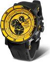 ブラック×イエロー!ロシアのVOSTOK EUROPE【ボストーク・ヨーロッパ】LUNOKHOD-2【ルノホート2号】クォーツクロノグラフ腕時計/正規…