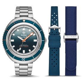 世界限定182本のスイス製ZODIAC【ゾディアック】Super Sea Wolf68Saturation【シーウルフ】Andy Mannクロノメーター自動巻き腕時計1000m防水/送料無料/