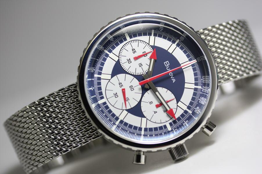 1970年の復刻モデル!BULOVA【ブローバ】ARCHIVE Chronograph C【アーカイブ・クロノグラフ】ヘリテージ・クォーツ腕時計/正規代理店商品