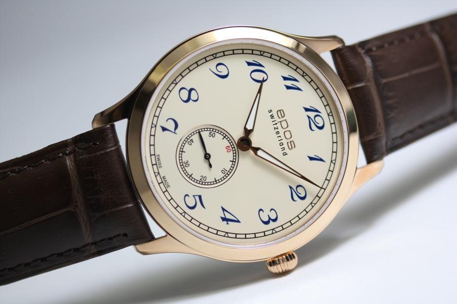 ケース薄さ約6ミリ!スイス製EPOS【エポス】Originale手巻き腕時計/クラシックデザイン/正規代理店商品