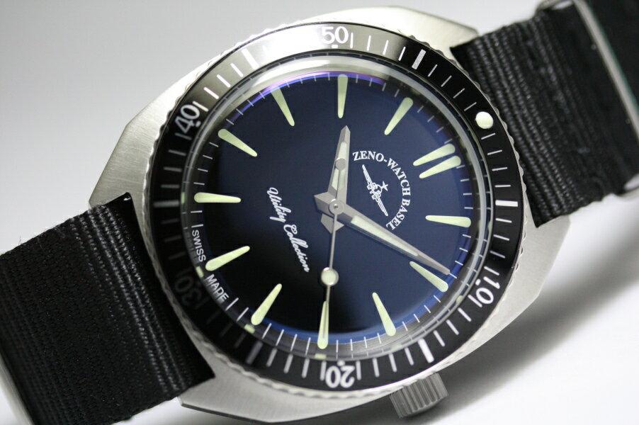 スイス製ZENO WATCH BASEL【ゼノ・ウォッチ・バーゼル】70年代デザインのクラシック・ミリタリー・クォーツ腕時計/メンズウォッチ/ボーイズ