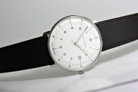 ドイツ製JunghansユンハンスMaxBillマックス・ビルクォーツ腕時計/正規代理店商品/メーカー希望小売価格97,900円送料無料/バウハウス・デザイン/男女兼用時計