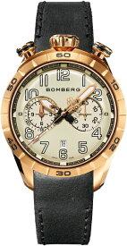 スイス製BOMBERG【ボンバーグ】BB-68 ゴールドグレー・クォーツ腕時計/国内正規流通商品/ツノクロノグラフ