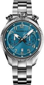 スイス製BOMBERG【ボンバーグ】BB-68 スモークライトブルー・クォーツ腕時計/国内正規流通商品/ツノクロノグラフ