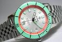 スイス製ZODIAC【ゾディアック】Super Sea Wolf53【シーウルフ】自動巻き腕時計/正規代理店商品/送料無料/ライムグリーン×オレンジ/男…