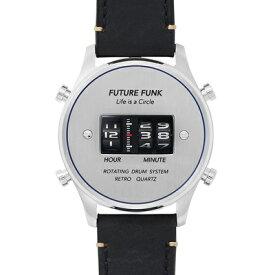 1970年代のローラー式腕時計のFUTURE FUNK【フューチャーファンク】ドラムウォッチ/アナログデジタル腕時計/アナデジ/正規代理店商品/送料無料/クリスマス/腕時計