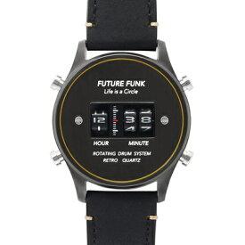 1970年代のローラー式腕時計のFUTURE FUNK【フューチャーファンク】ドラムウォッチ/アナログデジタル腕時計/アナデジ/正規代理店商品