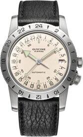 限定1000本!復刻!24時間表示!スイス製GLYCINE【グリシン】Airman36 No1【エアマン・ナンバーワン】自動巻き腕時計/ミリタリーウォッチ/腕時計/アメリカ空軍パイロット/グライシン