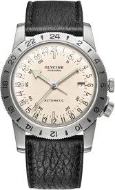 限定1000本!復刻!24時間表示!スイス製GLYCINE【グリシン】Airman40 No1【エアマン・ナンバーワン】自動巻き腕時計/ミリタリーウォッチ/腕時計/アメリカ空軍パイロット/グライシン