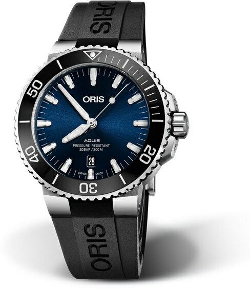 スイス製ORIS【オリス】AQUIS【アクイスデイト】300m防水自動巻き腕時計/ダイバーズウォッチ/セラミックベゼル/正規代理店商品
