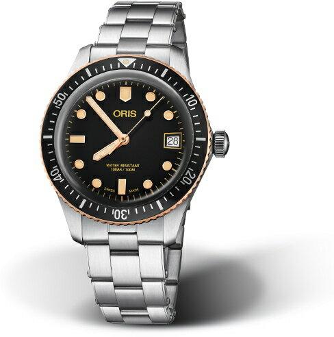 復刻!スイス製ORIS【オリス】ダイバーズ65デイト自動巻き腕時計/ヴィンテージ・ダイバーズ・デザイン/ブロンズ/正規代理店商品/直径36ミリ
