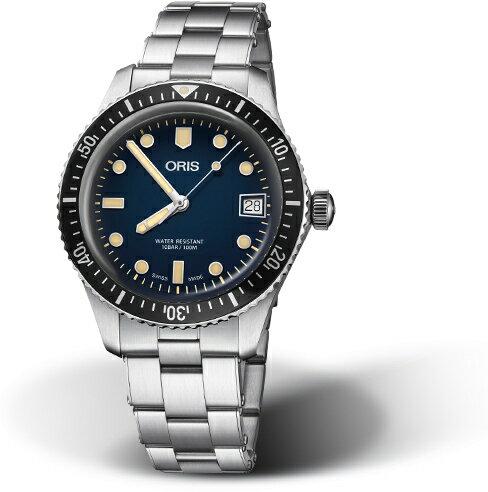 復刻!スイス製ORIS【オリス】ダイバーズ65デイト自動巻き腕時計/ヴィンテージ・ダイバーズ・デザイン/ブロンズ/正規代理店商品/直径36ミリ/ブルー