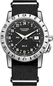 24時間表示!スイス製GLYCINE【グリシン】Airman Vintage【エアマン・ビンテージ】Noon自動巻き腕時計/ミリタリーウォッチ/腕時計/アメリカ空軍パイロット/グライシン/エアマン PM/AM/DC-4