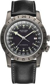 スイス製GLYCINE【グリシン】Airman Vintage【エアマン・ビンテージ】The Chief【チーフ】24時間表示の自動巻き腕時計/ミリタリーウォッチ/腕時計/アメリカ空軍パイロット/グライシン/TURLERチューラー