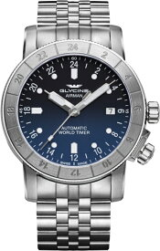 スイス製GLYCINE【グリシン】Airman 42【エアマン42】24時間表示の自動巻き腕時計/ミリタリーウォッチ/腕時計/アメリカ空軍パイロット/
