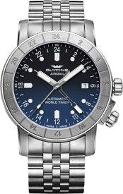 スイス製GLYCINE【グリシン】Airman 42【エアマン42】GMT搭載の自動巻き腕時計/ミリタリーウォッチ/腕時計/アメリカ空軍パイロット/