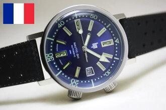 1967 转载 !法国 LIPNAUTIC 滑雪自动自动上弦手表 / 200 米防水和定期代理产品