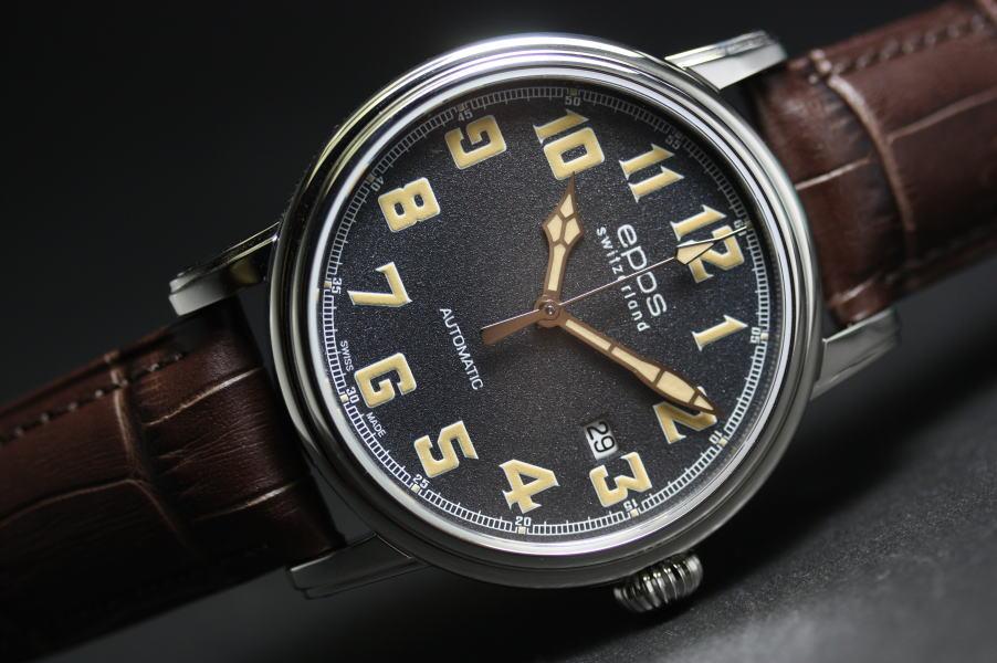 スイス製EPOS【エポス】EMOTION【エモーション】自動巻き腕時計/クラシックデザイン/正規代理店商品