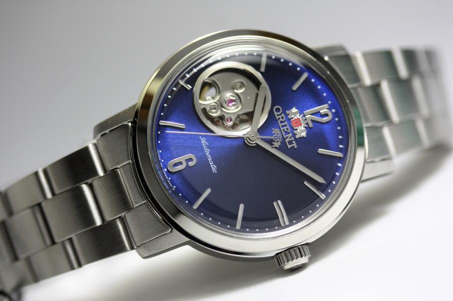 日本製ORIENT【オリエント】クラシック・シンプルなオープンハート自動巻き腕時計/クラシック・セミスケルトン/正規国内流通モデル/EPSON/Made in Japan