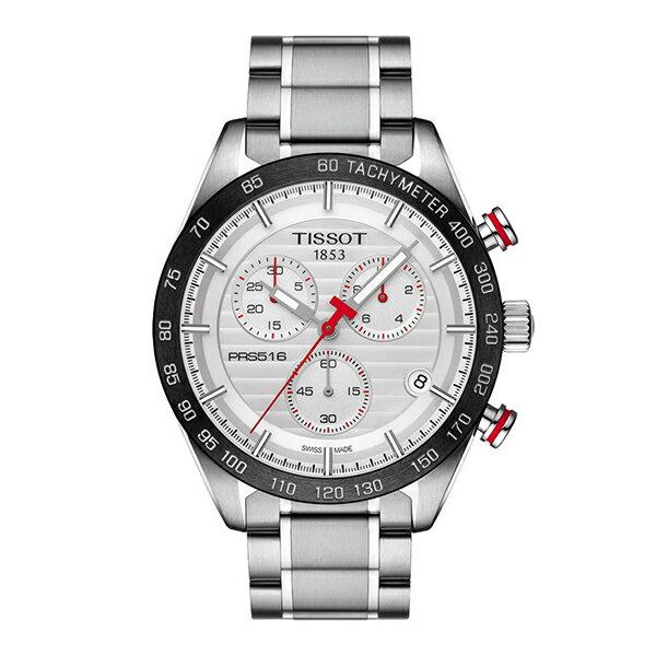 スイス製Tissot【ティソ】PRS 516 Gentクォーツ・クロノグラフ腕時計/正規代理店商品/T100.417.11.031.00