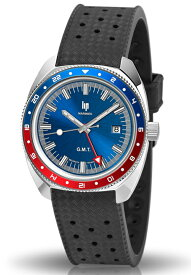 新品フランスのLIP【リップ】MARINIER【マリーン】GMT搭載腕時計/ペプシカラー/ダイバーズデザインウォッチ//送料無料/マリニエ/200m防水/ヴィンテージデザイン/レトロダイバーズ