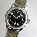 アメリカ陸軍航空隊モデルを復刻!M.R.M.W. ミリタリーウォッチ TYPE A-11/12時間表示のクォーツ腕時計 エルジン モントルロロイ