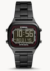 FOSSIL フォッシル RETRO DIGITAL レトロデジタル ブラック・デザインウォッチ デジタル時計 正規代理店商品 プレゼントにもオススメ 送料無料 腕時計 男性用腕時計