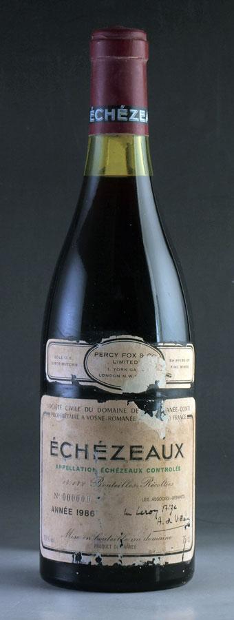 [1986] エシェゾーEchezeauxドメーヌ・ド・ラ・ロマネコンティ DRC※ラベル破れ