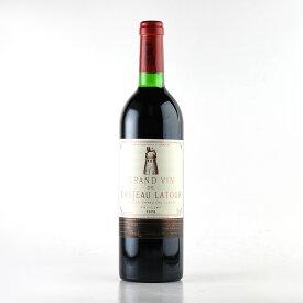 シャトー ラトゥール 1979 コルク沈み フランス ボルドー 赤ワイン